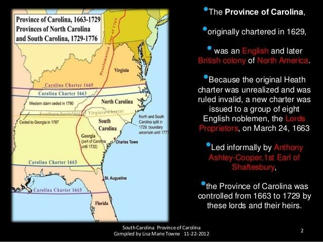 Province of Carolina Province Of Carolina