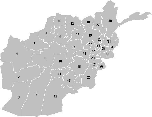 Provinces of Afghanistan