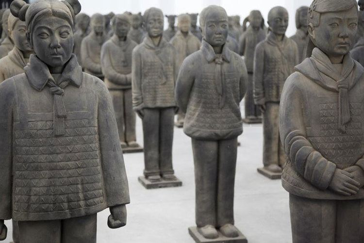 Prune Nourry prune nourry39s terracotta daughters reflect chinese gender