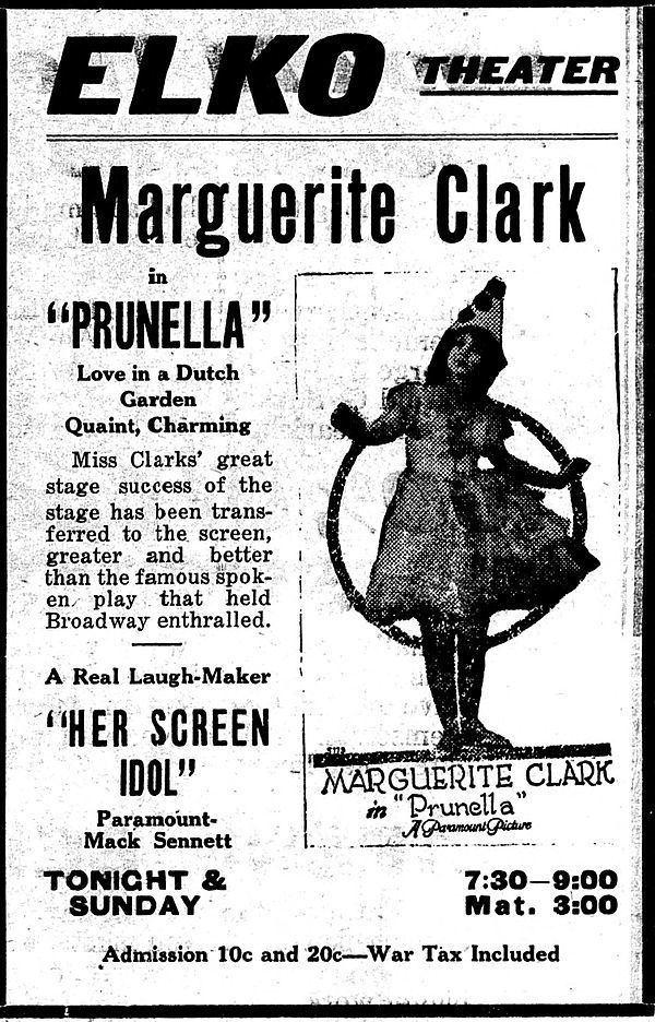 Prunella (1918 film) movie poster