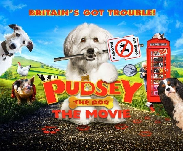 Pudsey: The Movie movie scenes Pudsey the Dog The Movie will follow the titular hound and his siblings Molly Izzy Meikle Small George Spike White and Tommy Malachy Knights as they