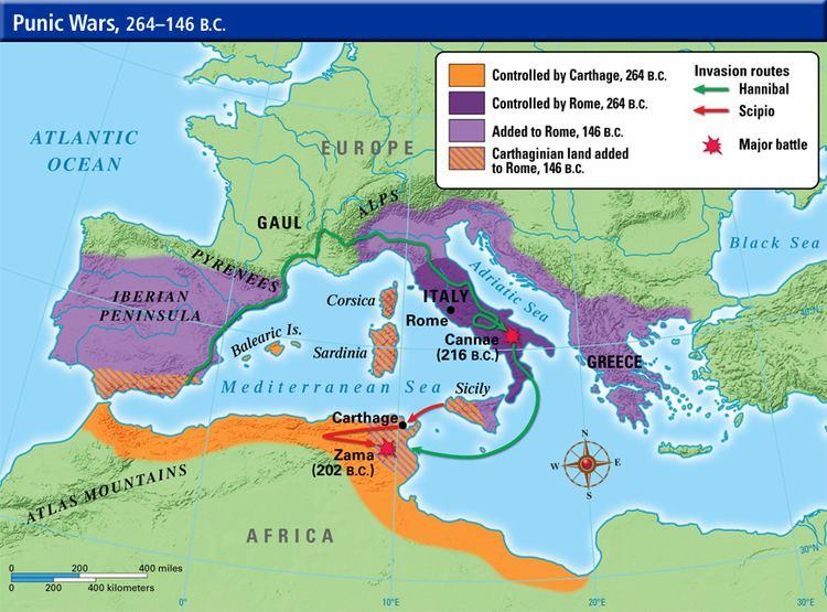 Punic Wars Punic Wars 264 BCE to 146 BCE Mr Burgess 6th Grade