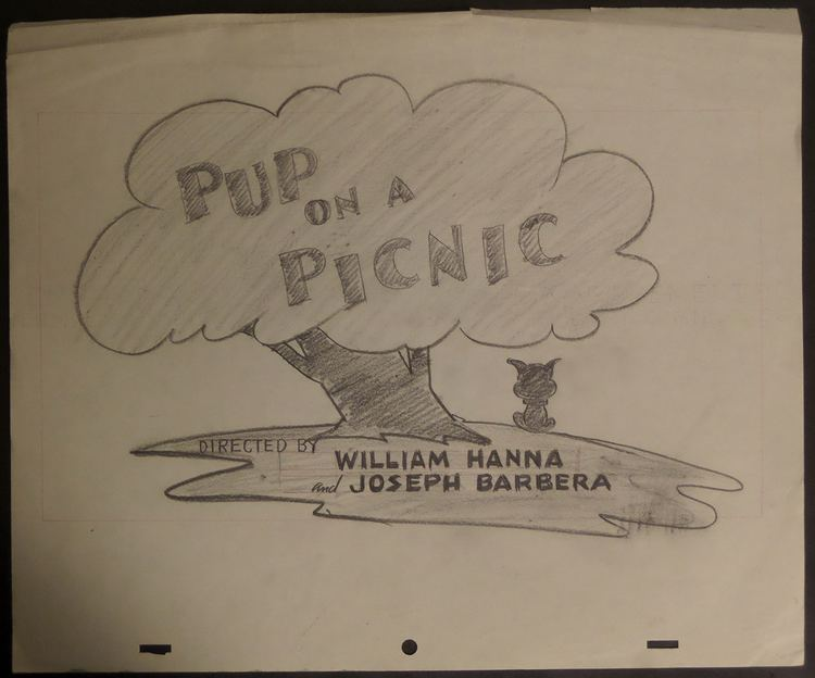Pup on a Picnic Pup on a Picnic Layout Drawing ID augmgm012 Van Eaton Galleries