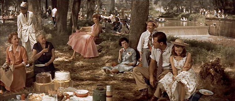 Pup on a Picnic movie scenes Save for the obvious set for the Moonglow dancing dock used for weather reasons the entirety of the picnic sequence was filmed in Halstead Kansas