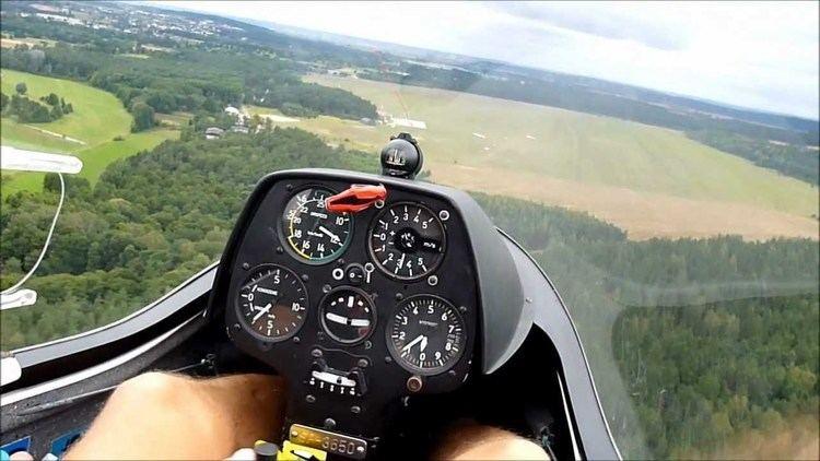 PW-5 PW5 World Class glider flight winch launch traffic pattern and