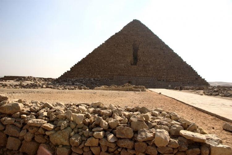 Pyramid of Menkaure Pyramid of Mykerinus Menkaure Pyramid Giza Egypt