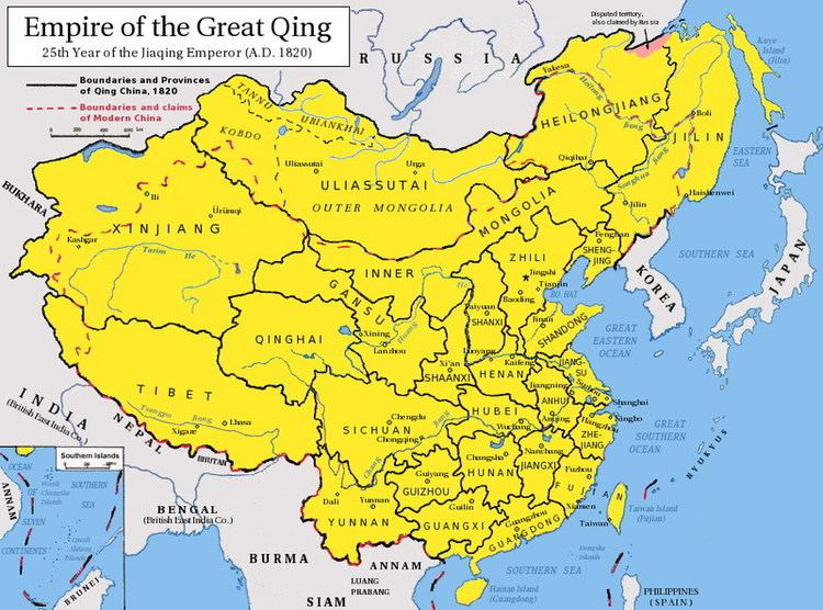 Qing dynasty Qing Dynasty Geography Map of the Chinese Qing Dynasty
