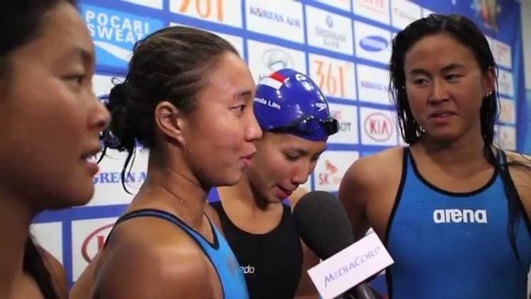 Quah Ting Wen Swimming Lynette Lim Amanda Lim Quah Ting Wen and Nur