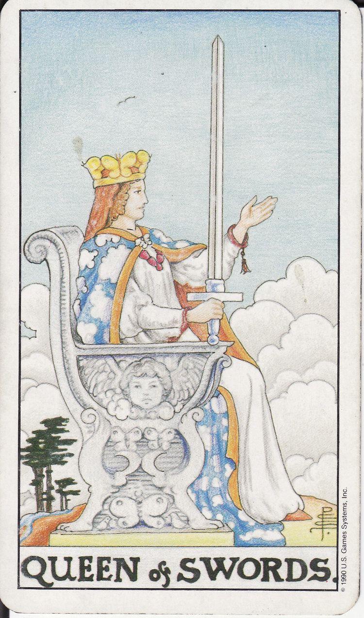 Queen of Swords TAROT The Royal Road QUEEN OF SWORDS