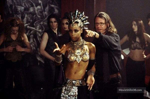 Queen of the Damned (film) movie scenes Queen Of The Damned behind the scenes photo of Aaliyah Michael Rymer
