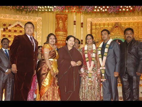 Radha Ravi Tamil Actor Radha Ravi Son Wedding and Reception YouTube