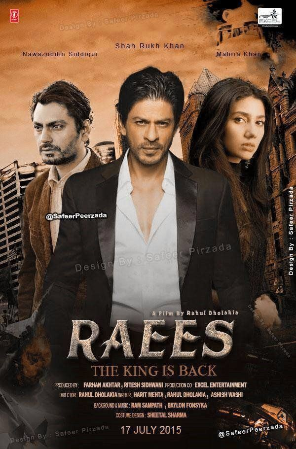 Raees Movie Official Teaser Trailer 2016 ShahRukh Khan Mahira