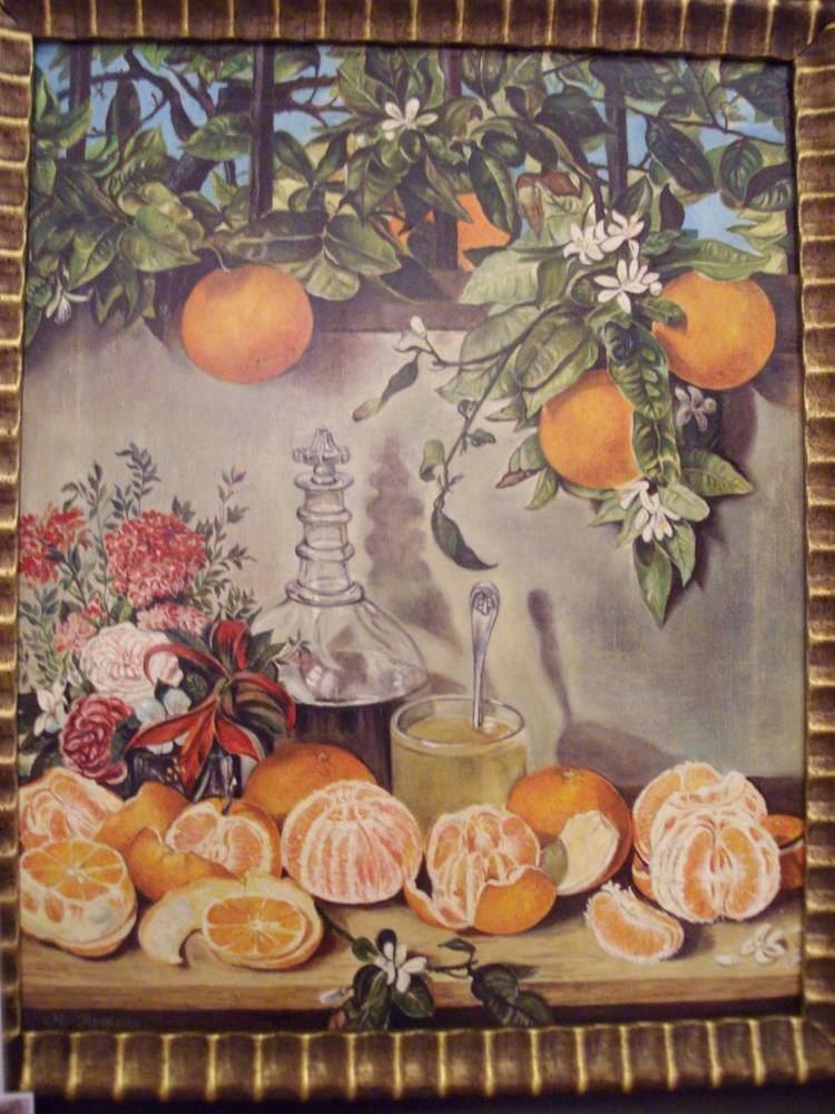Rafael Romero Barros Bodegn de naranjas Manuel Romero Ramrez Artelistacom
