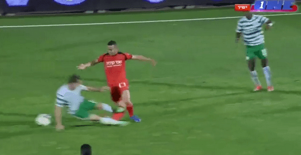 Rafi Dahan Aggressive Foul Leaves Israeli Soccer Player With Painful