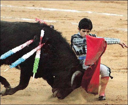 Rafita Mirabal Kid bullfighter Bullfighter Rafita Mirabal 11 performs a pass