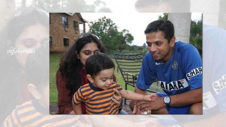 Rahul Dravid (Cricketer) family