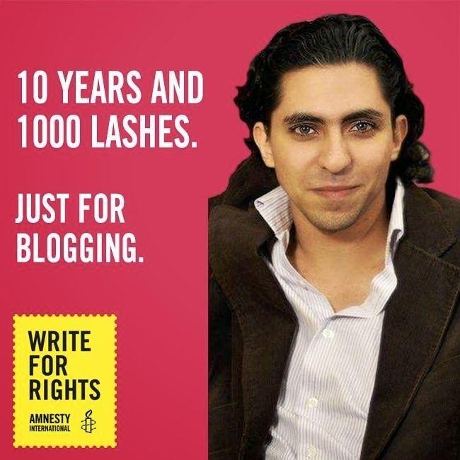 Raif Badawi Free Raif Badawi Saudi Blogger Sentenced to Cruel
