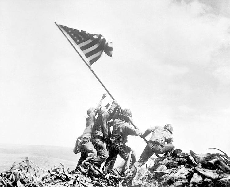 Raising the Flag on Iwo Jima Was the Famous Raising the Flag at Iwo Jima Photograph Staged