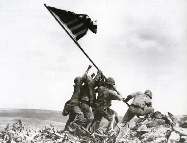 Raising the Flag on Iwo Jima Raising The Flag On Iwo Jima Joe Rosenthal Military History Monthly