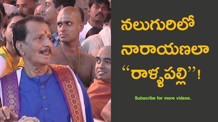 Rallapalli (actor) Telugu actor Rallapalli Narasimha Rao Spotted YouTube