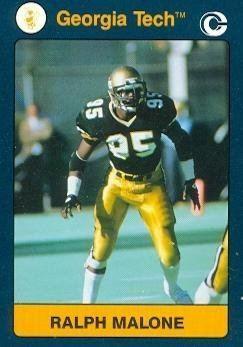 Ralph Malone Amazoncom Ralph Malone Football card Georgia Tech 1991