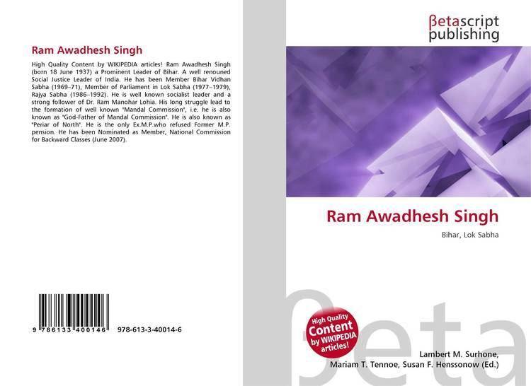 Ram Awadhesh Singh Ram Awadhesh Singh 9786133400146 6133400145 9786133400146