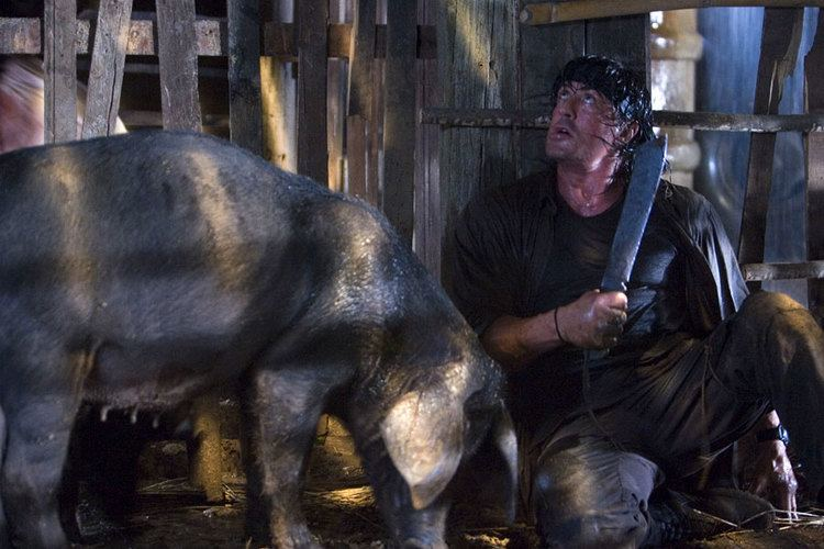 Rambo (2008 film) movie scenes Once again Sylvester Stallone called upon Gil to make a knife for the upcoming movie Rambo scheduled to be released in 2008 In the movie script