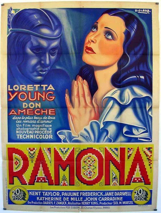 Ramona (1936 film) RAMONA MOVIE POSTER RAMONA MOVIE POSTER