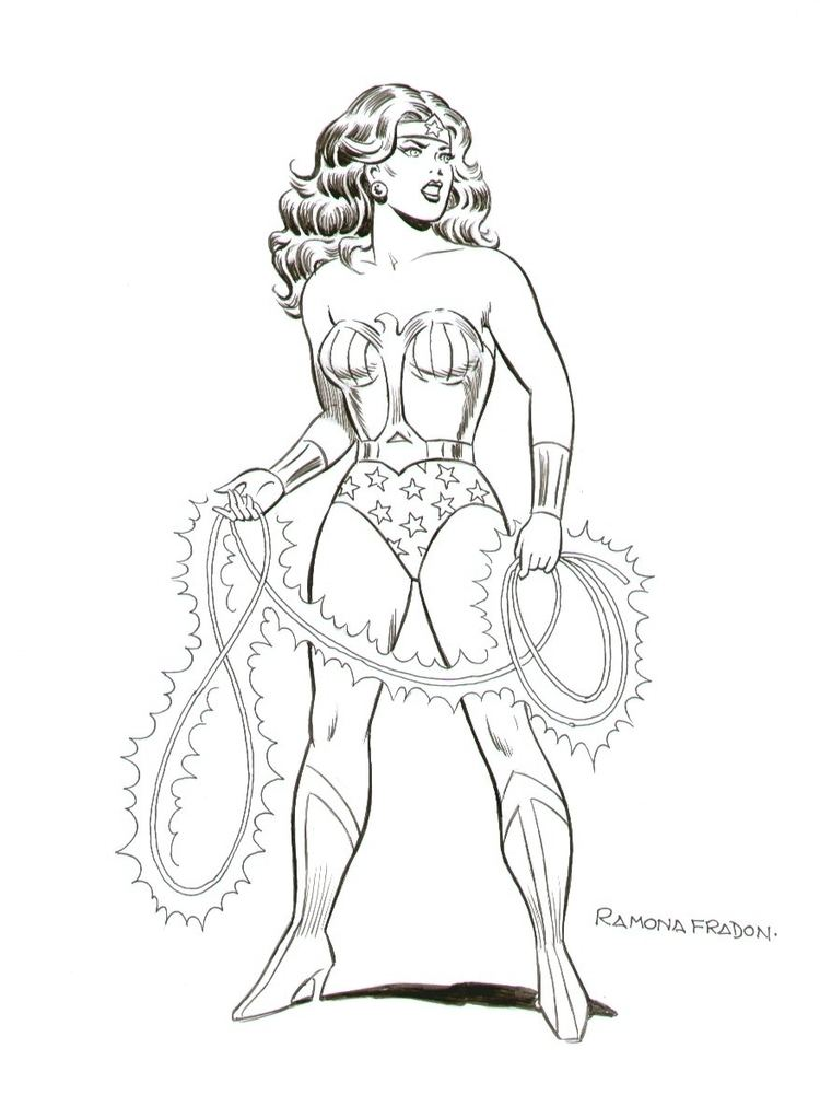 Ramona Fradon Wonder Woman Commission Ramona Fradon in Laura Mcs Misc Super