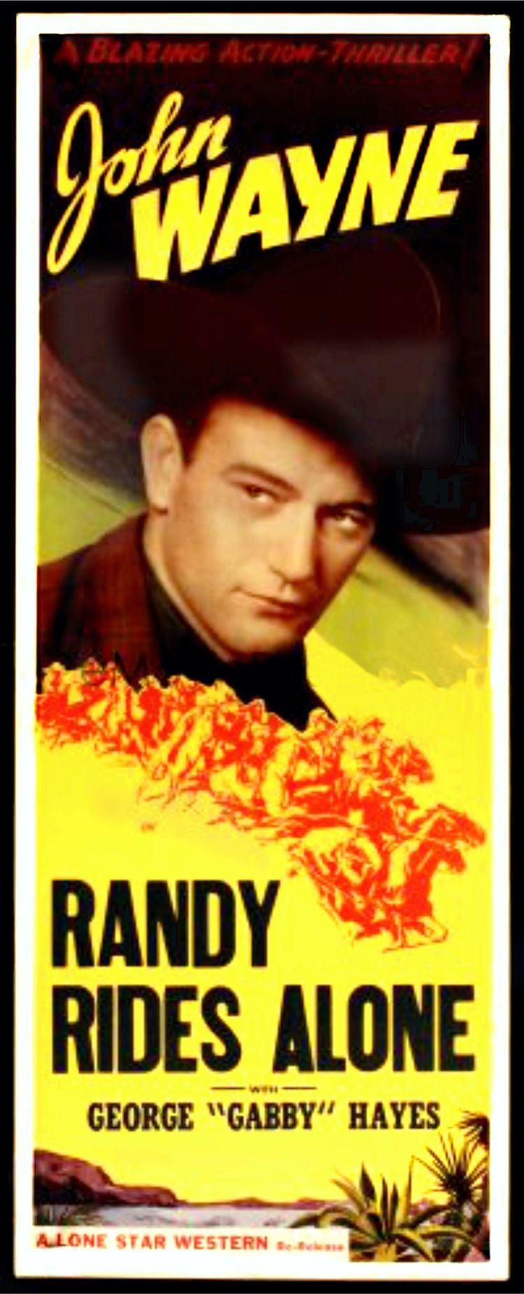 Randy Rides Alone John Wayne Iconic Images 1934 Part 1 My Favorite Westerns