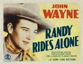 Randy Rides Alone Randy Rides Alone Movie Posters From Movie Poster Shop