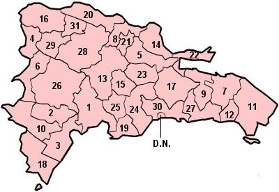 Ranked list of Dominican provinces
