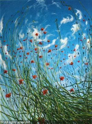 Rasher (artist) Poppies sold by Taylor de Veres Art Auctions Dublin on Monday