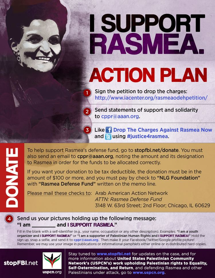 Rasmea Odeh All out for Detroit to defend Rasmea Odeh Committee to