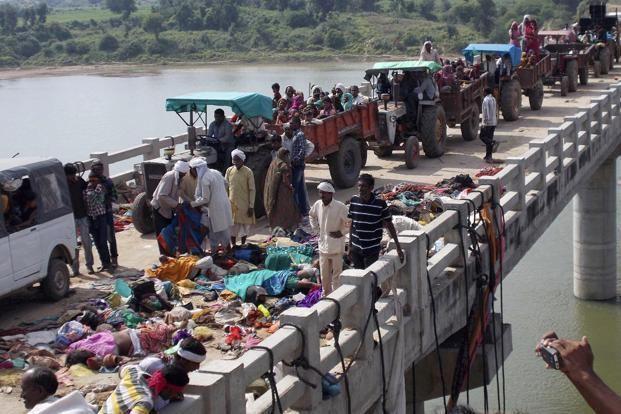 Ratangarh, Datia Tragedy in Datia stampede near temple kills 115 Slideshow Livemint
