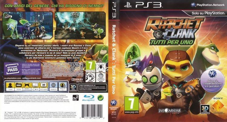 Ratchet & Clank: All 4 One artgametdbcomps3coverfullHQITBCES01141jpg