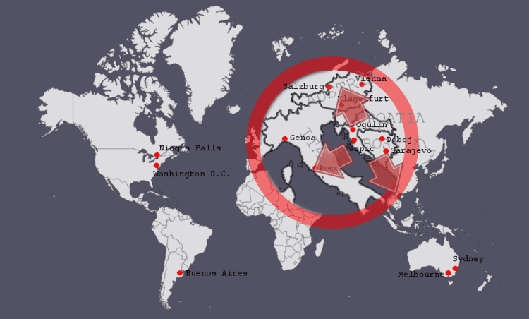 Ratlines (World War II aftermath) wwwebriticcomwpcontentuploads201504mappng