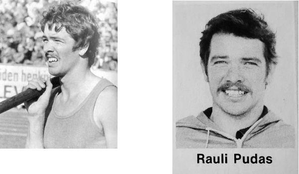 Rauli Pudas Yleisurheilun viiksiniekat esittelyss Rauli Pudas Etusuora