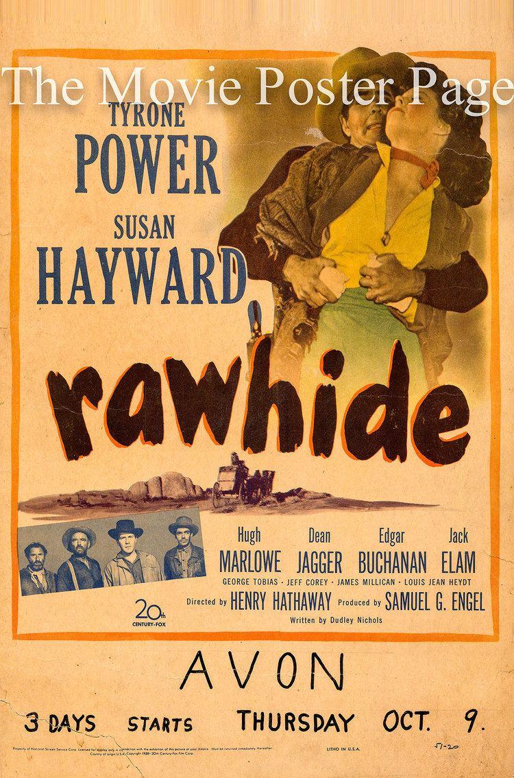 Rawhide (1951 film) Rawhide 1951 Tyrone Power Window Card VG AE 55