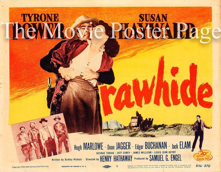 Rawhide (1951 film) Rawhide R1956 Tyrone Power US Title Card NM 45