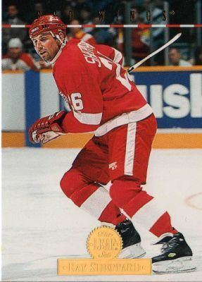 Ray Sheppard DETROIT RED WINGS Ray Sheppard 107 The Leaf Set 1994 Donruss NHL