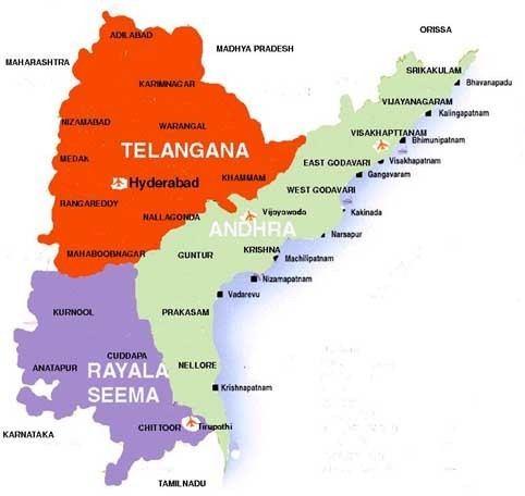 Rayalaseema Andhra Telangana and Rayalaseema Maps All about Hyderabad City
