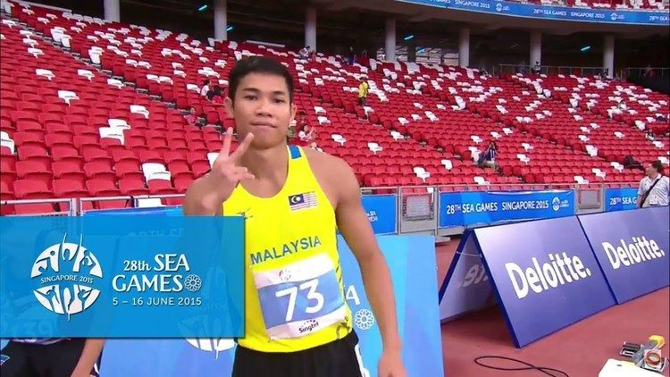 Rayzam Shah Wan Sofian Athletics Mens 110m Hurdles Round 1 Heat 12 Day 6 morning 28th