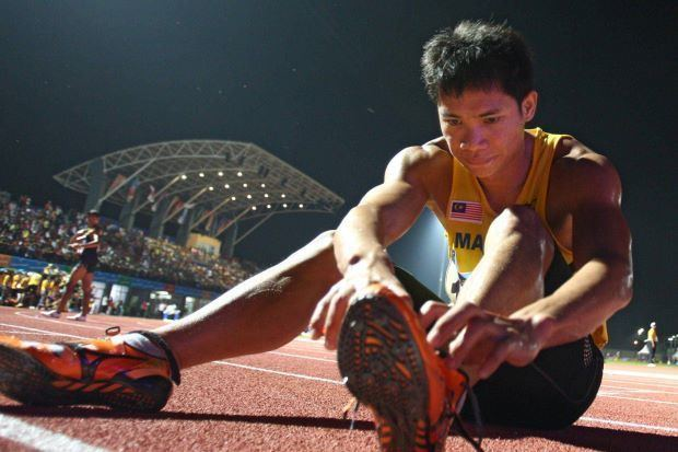 Rayzam Shah Wan Sofian Athletics Rayzam stages upset in 110m hurdles at Thai Open The