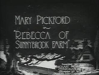 Rebecca of Sunnybrook Farm (1917 film) Rebecca of Sunnybrook Farm 1917 film Wikipedia