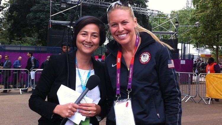 Rebecca Pike BBC Radio 2 Rebecca Pike with US Olympic gold medallist