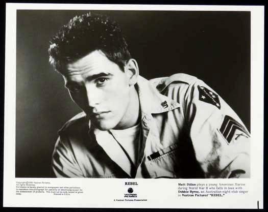 Rebel (1985 film) REBEL 1985 Matt Dillon Bryan Brown Debra Byrne Original Movie Still 1