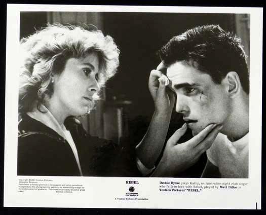 Rebel (1985 film) REBEL 1985 Matt Dillon Bryan Brown Debra Byrne Original Movie Still 2