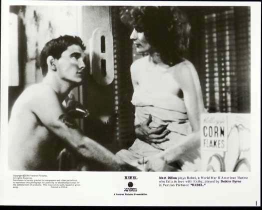 Rebel (1985 film) REBEL 1985 Matt Dillon Bryan Brown Debra Byrne Original Movie Still 4
