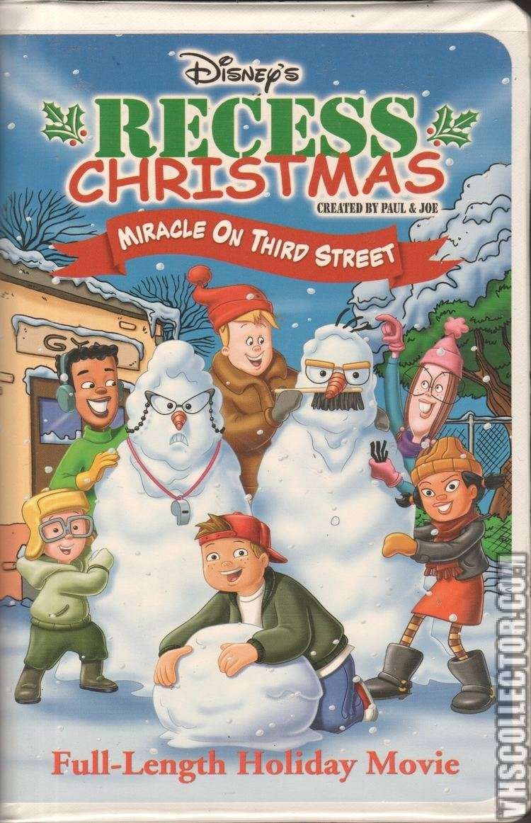Recess Christmas: Miracle on Third Street Recess Christmas Miracle On Third Street VHSCollectorcom Your